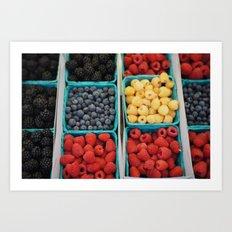 organic fruit Art Print