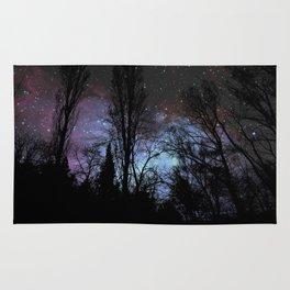 Black Trees Dark Space Rug