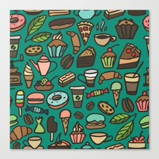Coffee and pastry  Canvas Print
