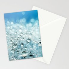 Powder Blue Drops Stationery Cards