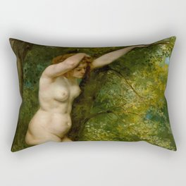 "Gustave Courbet ""Young Bather"" Rectangular Pillow"