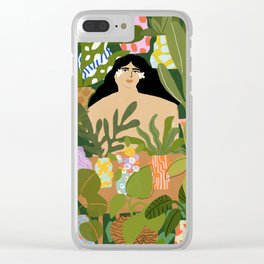 I Need More Plants Clear iPhone Case