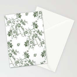 Penis Pattern GREEN Stationery Cards