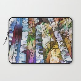 White Aspen an Birch Trees Laptop Sleeve