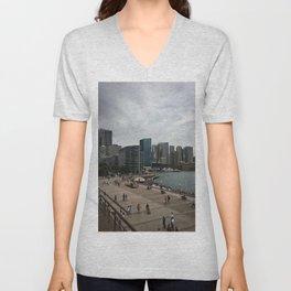 Circular Quay And City Unisex V-Neck