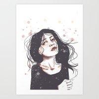 starry eyes as time flies Art Print