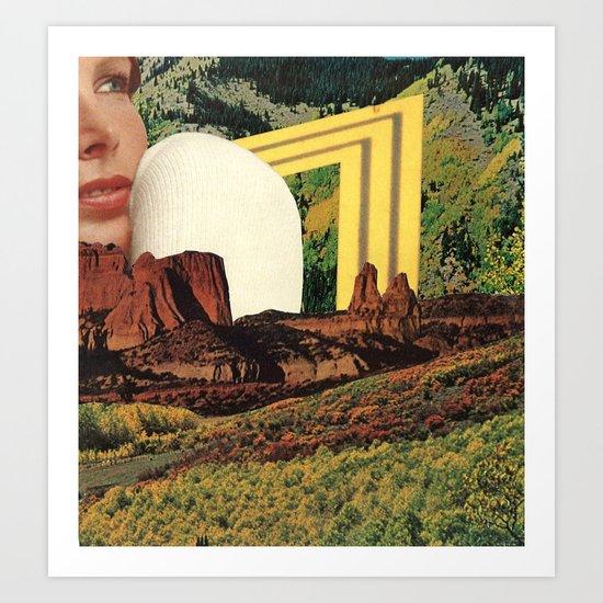 girl in landscape Art Print