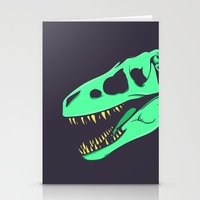 t rex Stationery Cards featuring T-Rex by attis