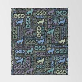 German Shepherd Dog - GSD Throw Blanket