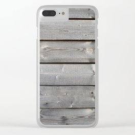 old wooden planks background Clear iPhone Case