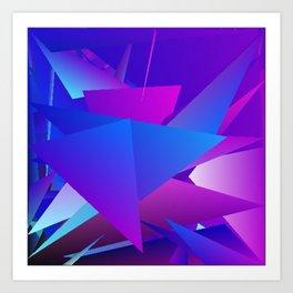 Rhapsody in Blue 2 Art Print