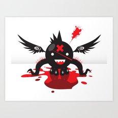Octoblood Art Print