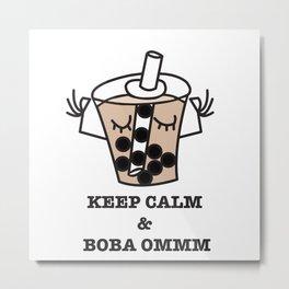 It's Boba Time Metal Print
