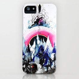 'Micro Cosmos' Illustration by Hannah Stouffer iPhone Case