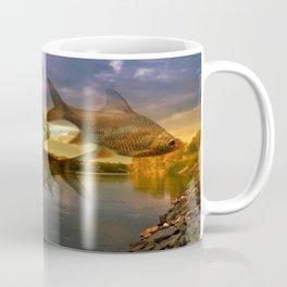Fish And Lake By Annie Zeno  Coffee Mug
