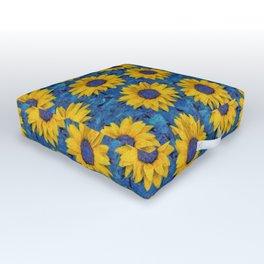Sunflower Outdoor Floor Cushion