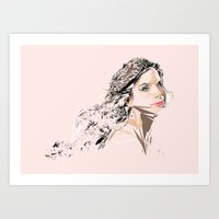 sandra dieckmann Art Prints featuring Sandra Bullock by Kyle Louis Fletcher