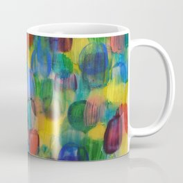 Abstract Color Art with Brushstrokes in Red, Blue, Yellow, Green Coffee Mug