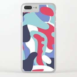 Camo Art Abstract Design Clear iPhone Case