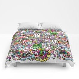 doodle owl village Comforters