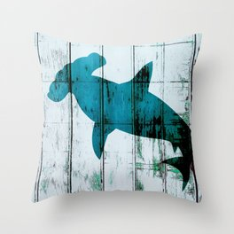 Hammer on the Head Shark Attack Throw Pillow