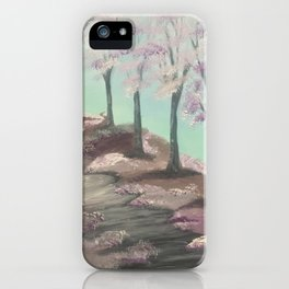 My cherry way - Spring blossoms iPhone Case