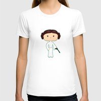 leia T-shirts featuring Leia by Sombras Blancas Art & Design