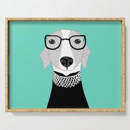 Ruth Bader Ginsburg Greyhound Serving Tray