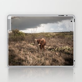 Stare Down - A Texas Bull in the Mesquite and Cactus Laptop & iPad Skin