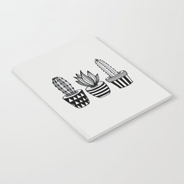 Cactus Plant monochrome cacti nature greyscale illustration floral succulent leaf home wall decor Notebook