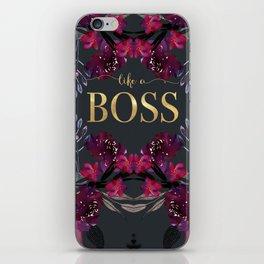 LIKE A BOSS  iPhone Skin