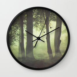 Wispy Forest Mists Wall Clock