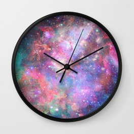 Glitter Galaxy Wall Clock
