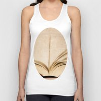 kindle Tank Tops featuring Silent Reading II by Rose Etiennette
