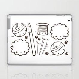 crochet cute - kawaii craft supplies Laptop & iPad Skin