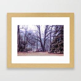 Landscape at Old Kennett Meetinghouse Framed Art Print