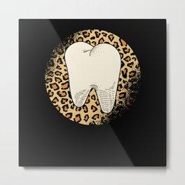 Female Dentist Gift Tooth Metal Print