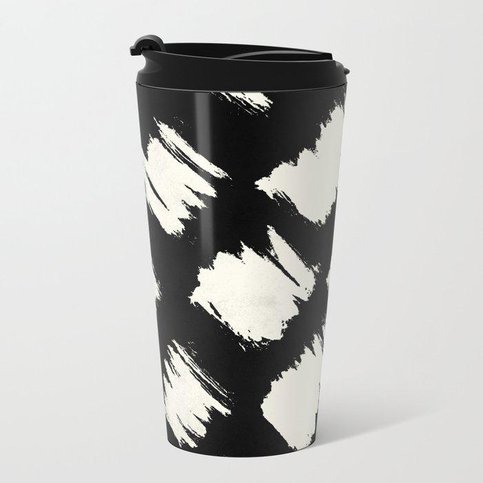 Tribal Brushed Dot Metal Travel Mug