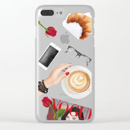 Fashion desk situation Clear iPhone Case