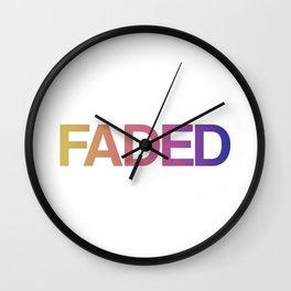 Faded Wall Clock