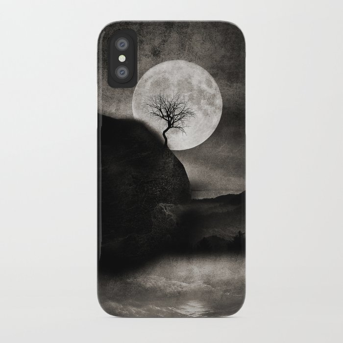 The Moon and the Tree.. iPhone Case