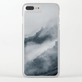 Fog Amongst The Cliffs Clear iPhone Case