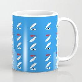 Abstract Petals White Blue #pattern #design #style #home #decor #kirovair Coffee Mug
