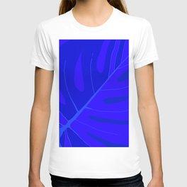 Large Monstera Leaf in Shades of Blue #decor #society6 #buyart T-shirt