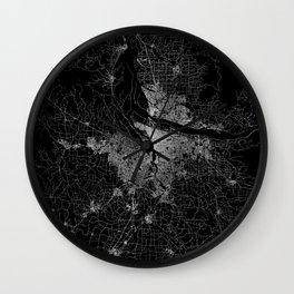 portland map Wall Clock