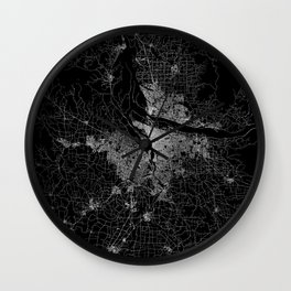portland map Wall Clock