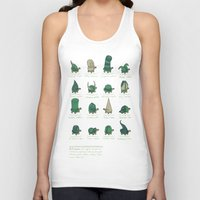 study Tank Tops featuring A Study of Turtles by Hector Mansilla