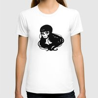 roller derby T-shirts featuring Roller Derby Catrina by Mean Streak