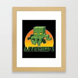 Minecraftian Framed Art Print