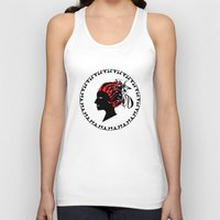 greek Tank Tops featuring Greek motive by Donna Amoralez